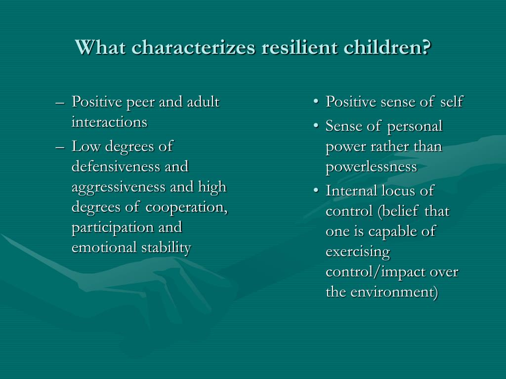 Positive peer and adult interactions