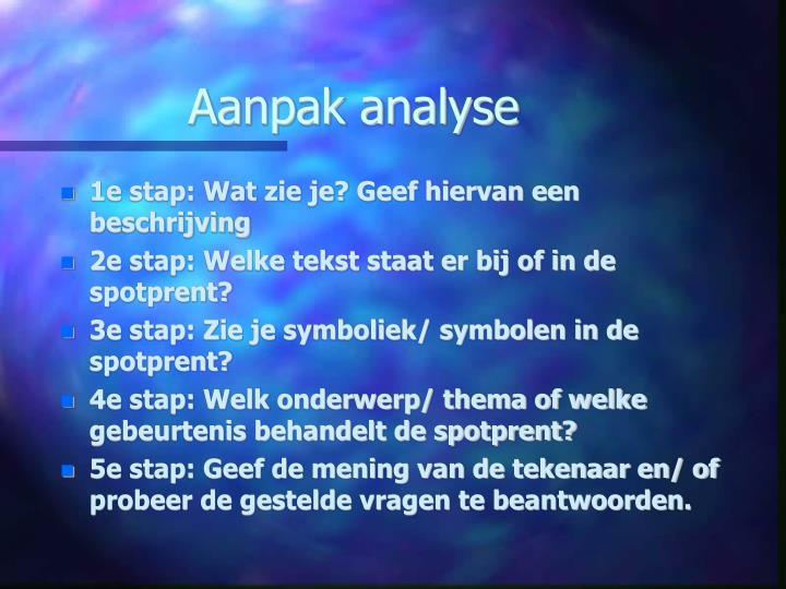 Aanpak analyse