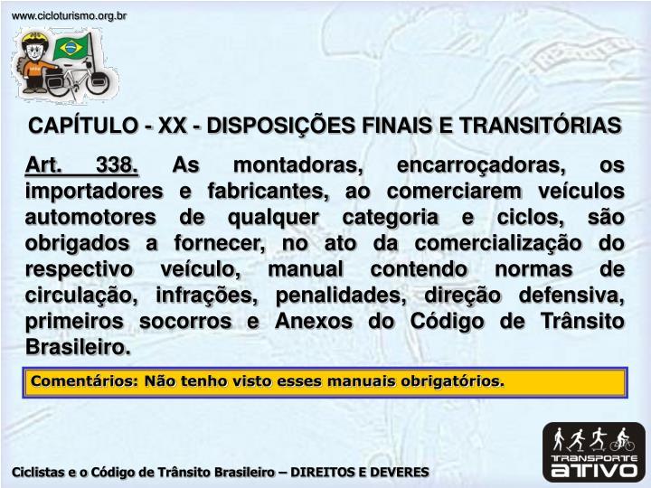 CAPÍTULO - XX - D