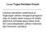 contoh tugas penilaian proyek