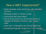 how is mst implemented