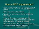 how is mst implemented15