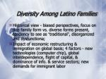 diversity among latino families