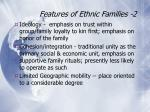 features of ethnic families 2