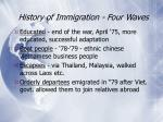 history of immigration four waves