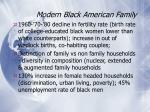 modern black american family