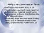 modern mexican american family