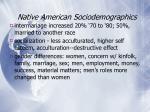 native american sociodemographics