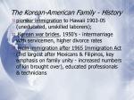 the korean american family history