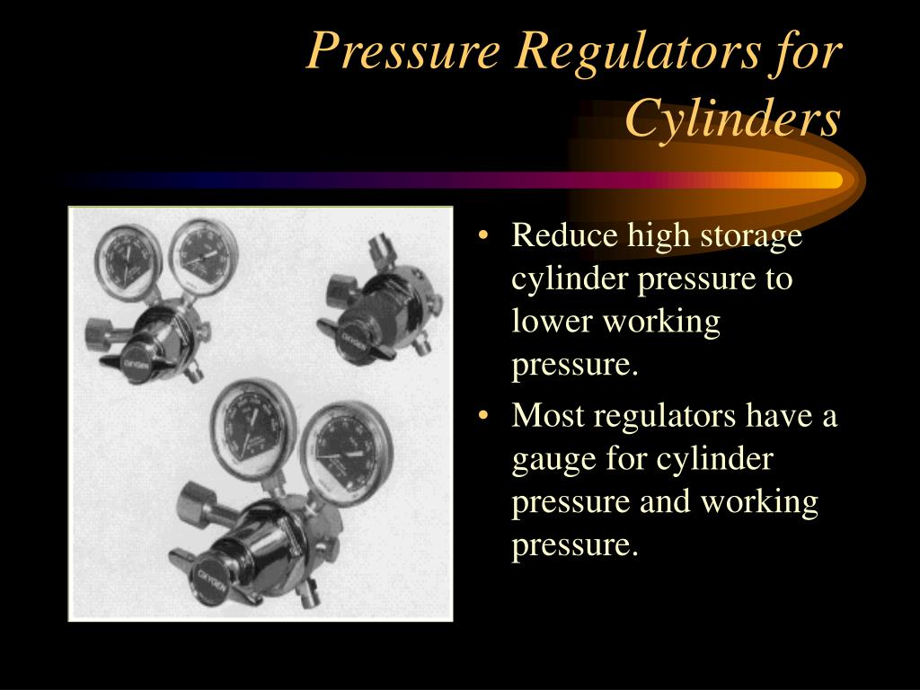 Reduce high storage cylinder pressure to lower working pressure.