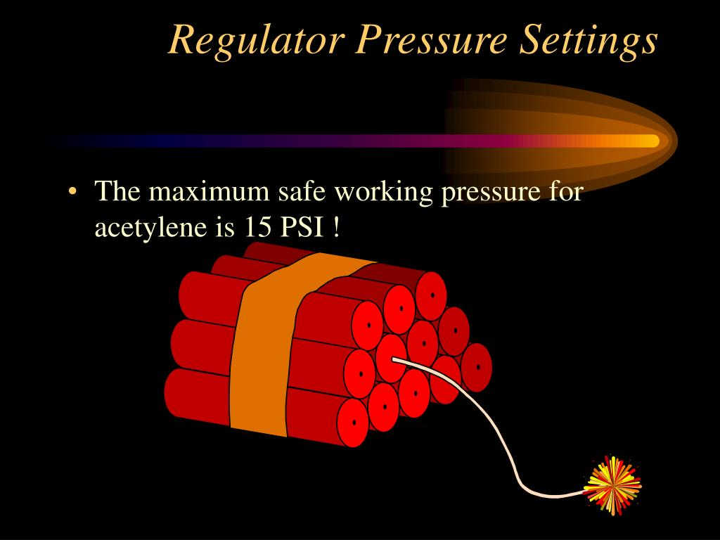 Regulator Pressure Settings