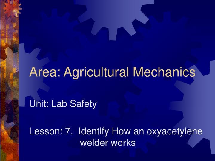 Area agricultural mechanics