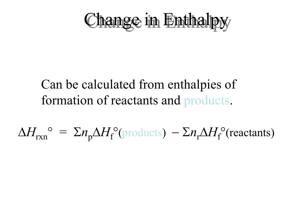 Change in Enthalpy