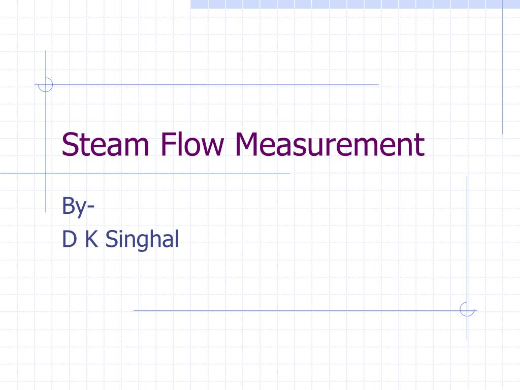 steam flow measurement l.