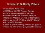 fireriser butterfly valves