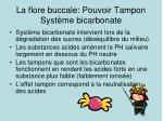 la flore buccale pouvoir tampon syst me bicarbonate