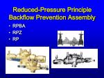reduced pressure principle backflow prevention assembly