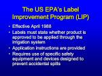 the us epa s label improvement program lip
