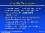 capacity measurement