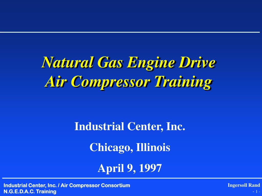 natural gas engine drive air compressor training
