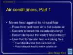 air conditioners part 1