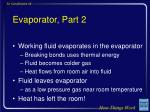 evaporator part 2