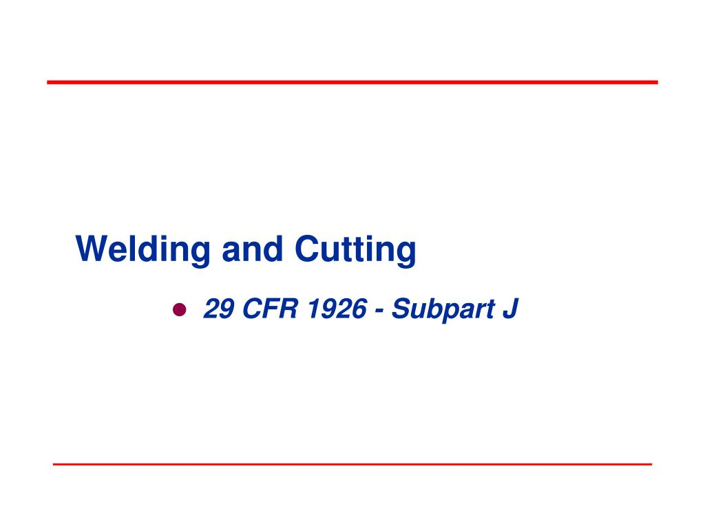 welding and cutting l.
