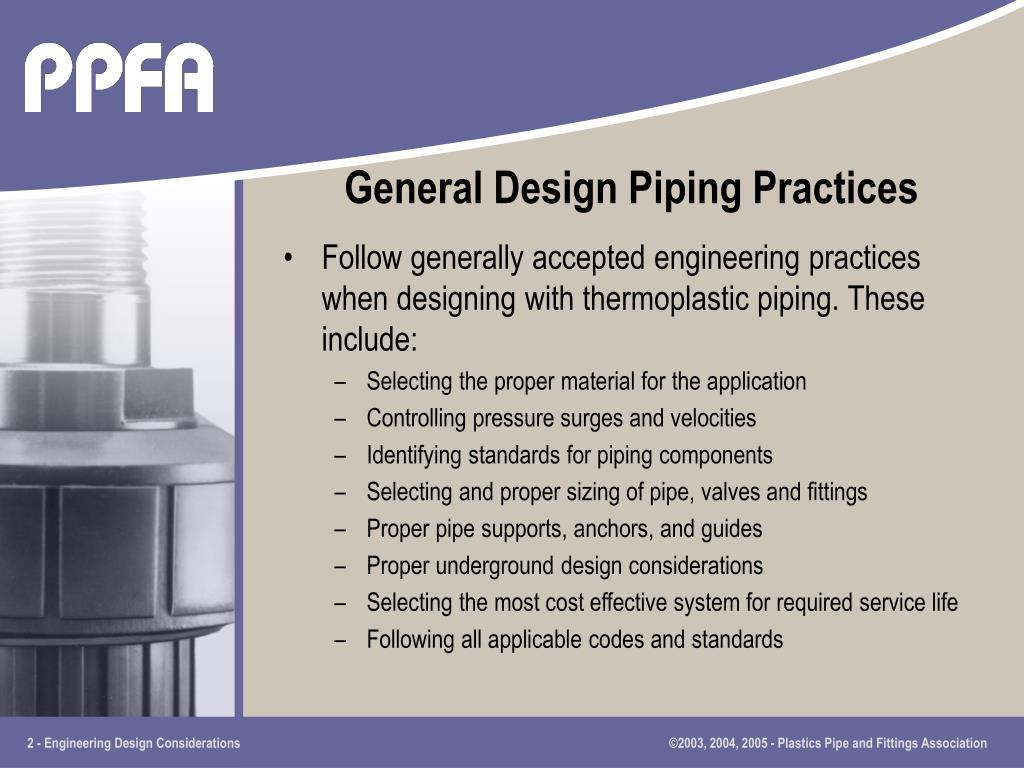 General Design Piping Practices