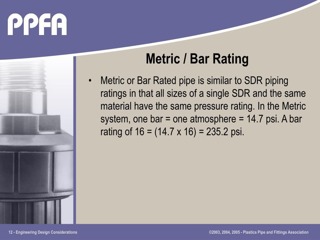 Metric / Bar Rating