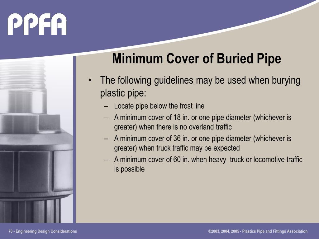 Minimum Cover of Buried Pipe