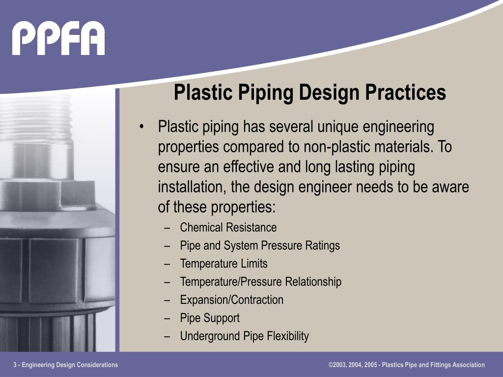 Plastic Piping Design Practices
