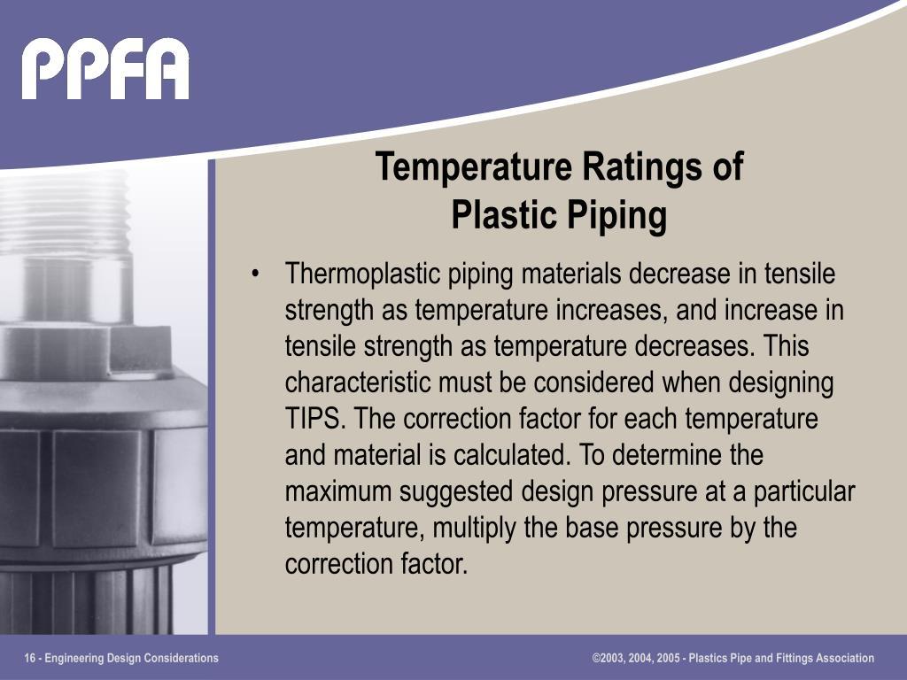 Temperature Ratings of