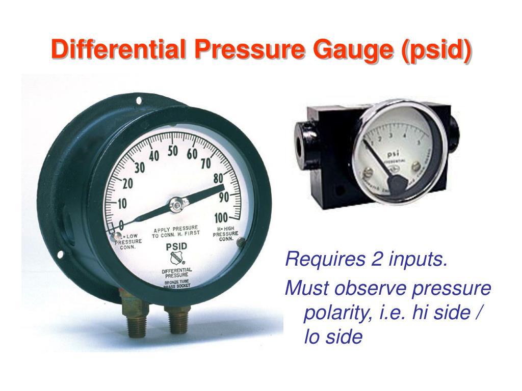 Differential Pressure Gauge (psid)