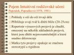 pojem intuitivn rodi ovsk u en papou ek papou kov 1978 19811