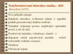 synchronizovan interakce matka d t brazelton 1972