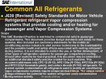 common all refrigerants