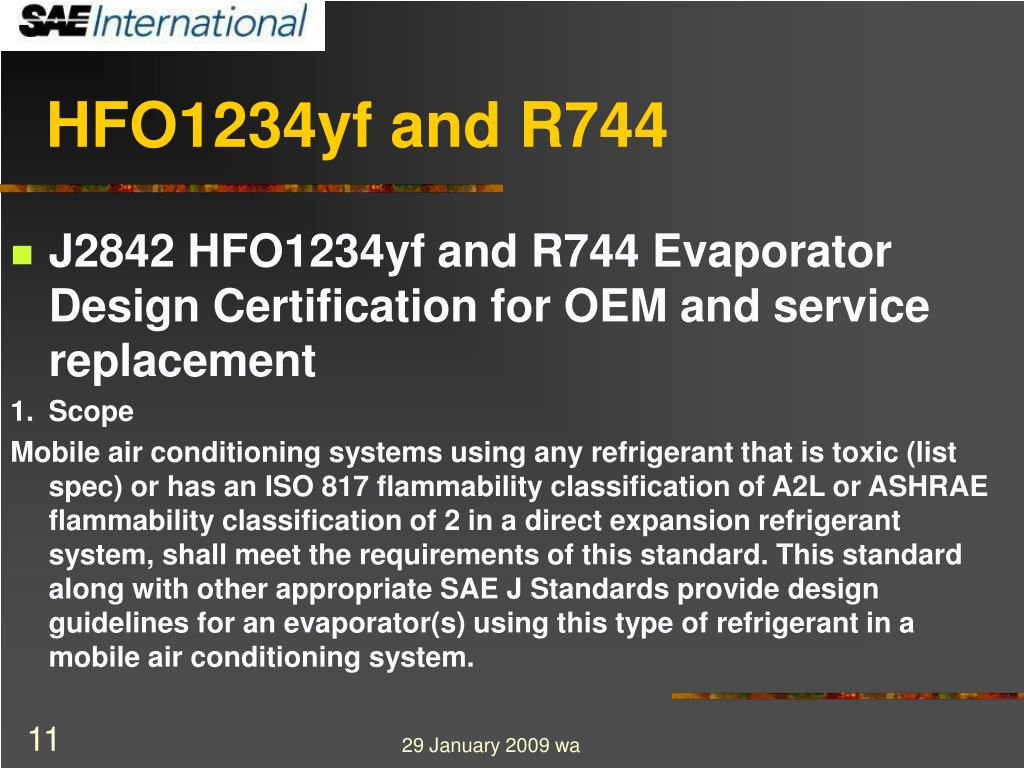 HFO1234yf and R744