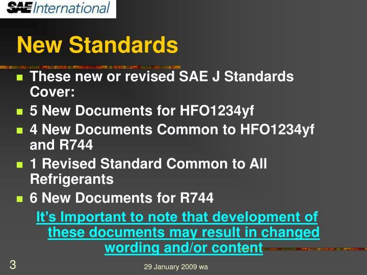 New standards3