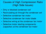 causes of high compression ratio high side issues