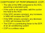 coefficient of performance cop