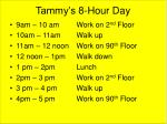 tammy s 8 hour day