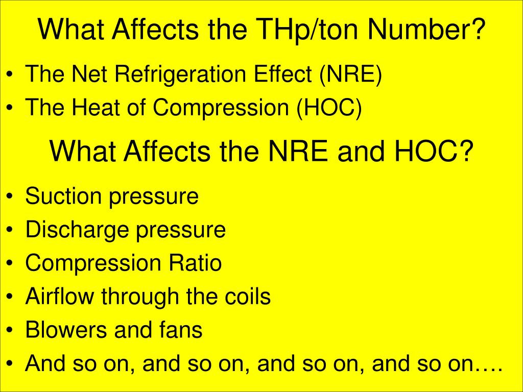 What Affects the THp/ton Number?