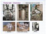 pump test overview
