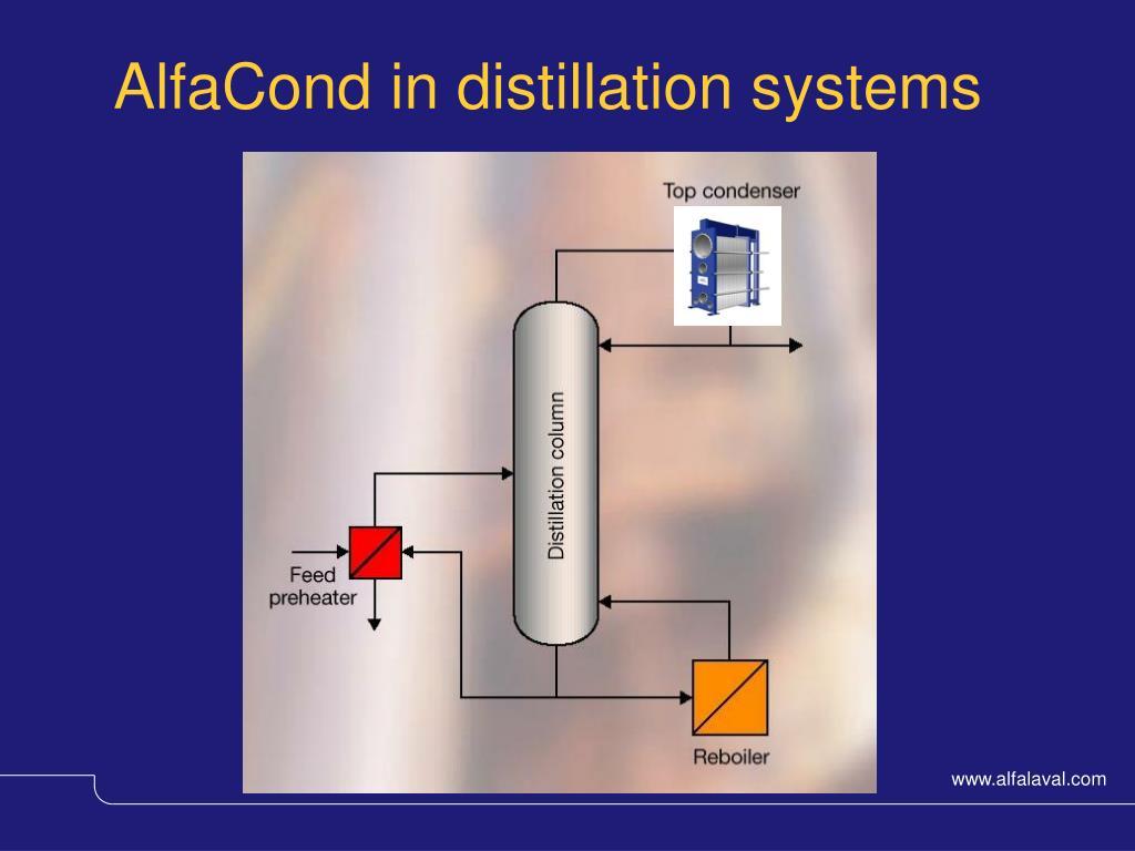 AlfaCond in distillation systems