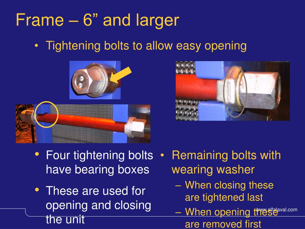 Remaining bolts with
