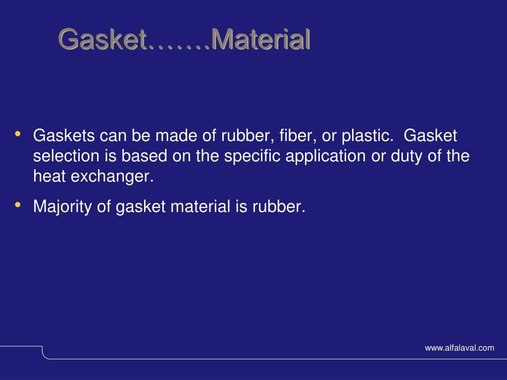 Gasket…….Material