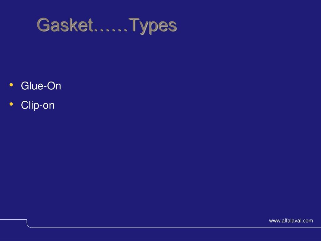 Gasket……Types