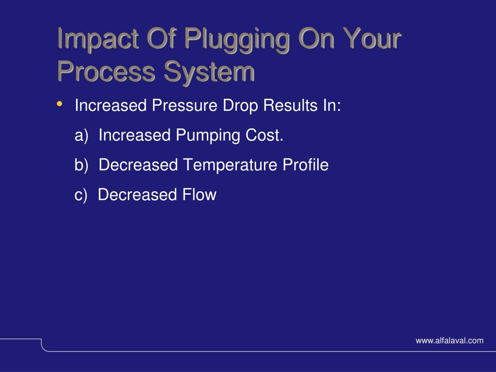 Impact Of Plugging On Your Process System