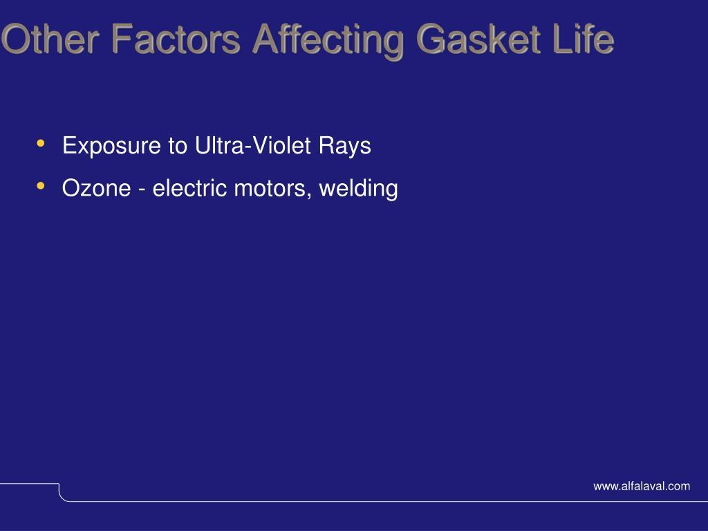 Other Factors Affecting Gasket Life