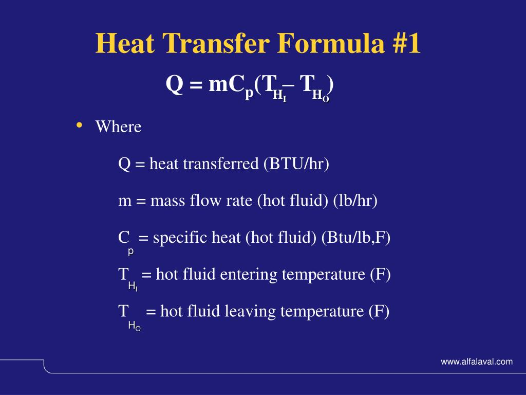Heat Transfer Formula #1